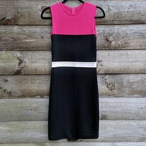 St John Sport Colorblock Sleeveless Sheath Dress